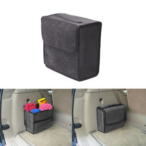 1pcs Car Suv Trunk Organizer Foldable Storage Box Cargo Woolen Felt Accessory