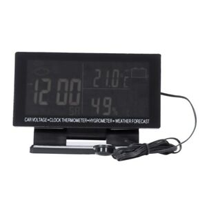 10x 4 In 1 Digital Car Thermometer Hygrometer Dc 12v Lcd Vehicle Voltage Clock S