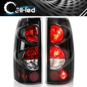 For 1999 2006 Chevy Silverado 99 03 Gmc Sierra Replacement Tail Light Lamp Black
