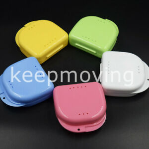 Dental Mouth Box Container Guards Retainer False Teeth Dentures Storage Tray
