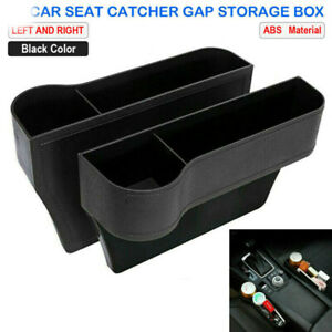 Auto Car Seat Gap Catcher Filler Storage Box Pocket Organizer Holder Suv Abs