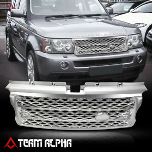 Matte Silver Autobiography Style Bumper Grille grill Fits 06 09 Range Rover L320