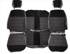 1987 1993 Mustang Coupe Cloth Seat Cover Set Black Acme Interiors U633 139