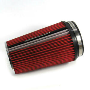 Edelbrock Air Filter 43681 Open Box Pro flo Conical Red Washable 10 000 6 000