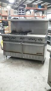 Used 60 Natural Gas Garland Range With 6 burners 24 Griddle 2 Standard