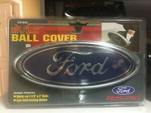 Ford Ball Hitch Cover Licensed Trailer Towing Receiver Blue Chrome