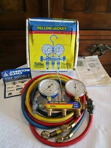 Ritchie Yellow Jacket Test And Charging Manifold Gauges R 12 R 22 R 502 In Box