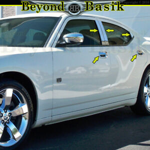 For 2006 2008 2009 2010 Dodge Charger Chrome Door Handle Covers ss Pillar Posts