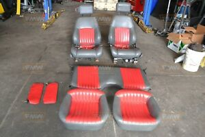 82 02 Trans Am Firebird Grey Gray Red Leather Seats Front Rear Hot Rod
