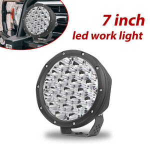 7 Led Round Driving Spot Light Headlight Fog Pods For Jeep Off Road Truck Atv