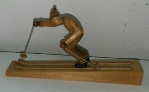 Carved Wooden Skier B Borowik S Borowik Made In Poland