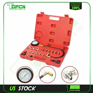 Diesel Engine Compression Cylinder Pressure Tester Gauge Set 0 1000 Psi For Ford
