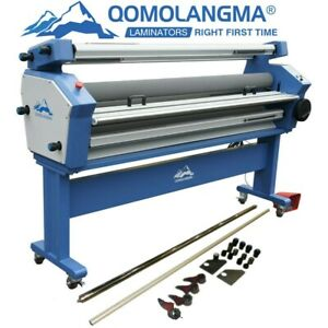 55in 63in Full auto Heat Assisted Cold Laminator Laminating With Knife Trimmer