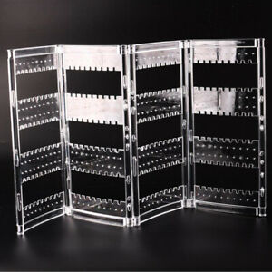 Foldable Earrings Ring Jewelry Rack Holder Show Stand Organizer 4 page