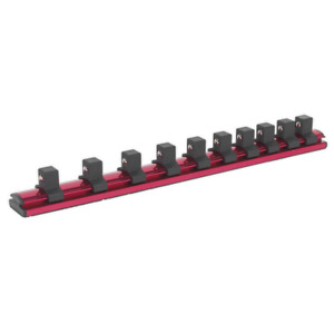 Sealey Ak27084 Socket Retaining Rail Magnetic 1 2in Sq Drive 10 Clips