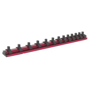 Sealey Ak27082 Socket Retaining Rail Magnetic 1 4in Sq Drive 13 Clips