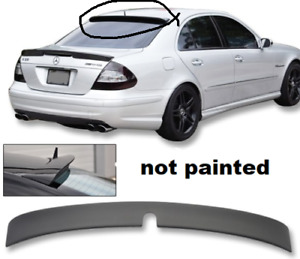 Unpainted Roof Spoiler For Mercedes Benz E class W211 4dr L Style Gray