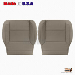 2014 2019 Chevy Silverado Driver Passenger Bottom Perforated Leather Cover Tan