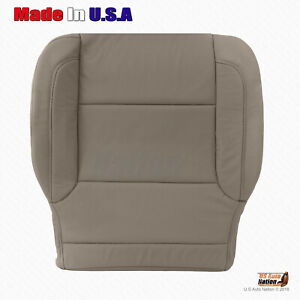 2014 2015 2016 Chevy Silverado Driver Bottom Perforated Leather Seat Cover Tan