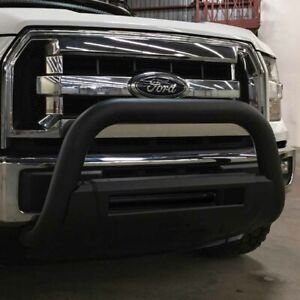 Titanium Black 3 1 2in Oval Grille Guard For 15 2019 Chevy Gmc Colorado Canyon