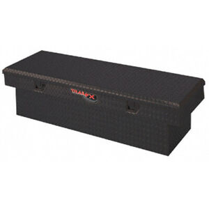 Diamond Tread Black Aluminum Angled Crossover Truck Tool Box 63x13 5x19 25in