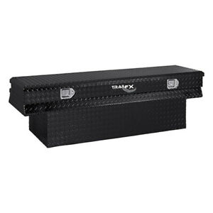 Diamond Tread Black Aluminum Notched Chest Truck Tool Box 59x17 5x19 25in