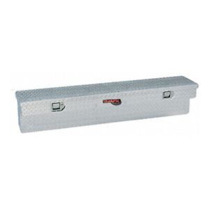 Diamond Tread Polished Aluminum Side Mount Truck Tool Box 48x11x11 25in