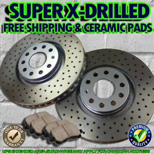 S0722 Fit 2003 2004 Ford Mustang Cobra Rear Drilled Brake Rotors Ceramic Pads