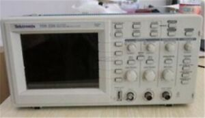 Used 2 Channel Tektronix Tds220 100mhz Digital Oscilloscope 1 Msa s Tested Qi
