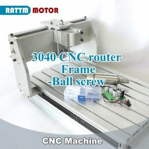 3 Axis 3040 Cnc Router Frame Engraving Milling Machine 52mm Kit 300w Dc Spindle
