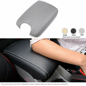 Soft Leather Car Armrest Cover Center Console Lid Gray For Honda Accord 08 15