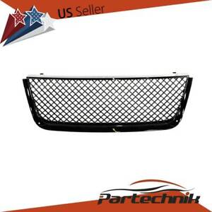 Fit 2003 2006 Ford Expedition Mesh Front Hood Bumper Grill Grille Glossy Black