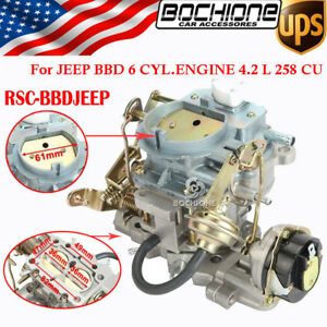 Performance Carburetor Replace For Jeep Wagoneer Wrangler Bbd 6 Cyl 83 88 Engine