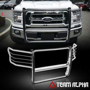Fits 2015 2019 Ford F150 Chrome Stainless Steel 1 5 Bumper Grille brush Guard
