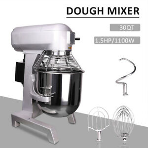 1100w 3 Speed 30l Commercial Dough Food Mixer 7kg Capacity Multifunction Blender