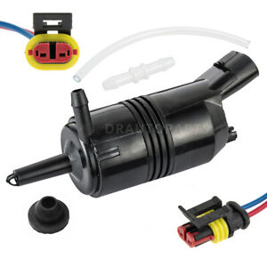 Windshield Washer Pump W Electrical Connector Hose For Chevy Silverado 2500