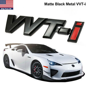 Metal Black Red Logo Vvt I For Toyota Corolla Altis Vios Car Parts Emblem