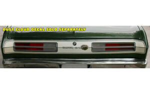 1972 Plymouth Duster Tail Panel Stripe Decal Kit Qg543
