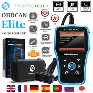 2020 Universal For Vw Audi Ford Car Abs Srs Reset Obd2 Code Reader Auto Scanner
