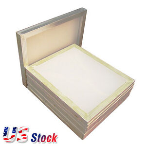 Us 6pcs 23 X 31 Aluminum Silk Screen Frame With 110 White Mesh