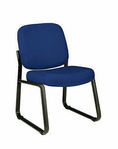 Navy Fabric Stain Resistant Reception Office Side Chair Waiting Room Chair