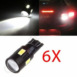 6000k High Power 6x Cree Projector Light White 921 912 T10 W5w Led License Bulb
