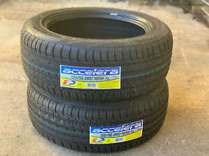 2 New 225 55r17 Accelera Phi R Performance Pair Of Two Tires 400aa 101w Xl