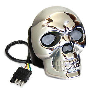 Reese 86523 Chrome Finish Hitch Cover Skull Lighted