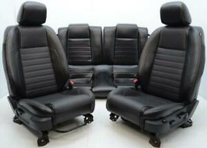 2009 2010 2011 2012 2013 2014 Ford Mustang Gt Front Rear Black Leather Seats