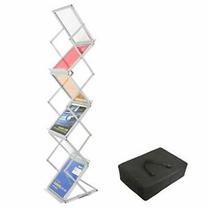 Foldable Literature Brochure Rack Exhibition Show Display Stand Leaflet Holderus
