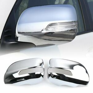 For Toyota Land Cruiser Prado Fj150 2010 2019 Chrome Rearview Wing Mirror Cover