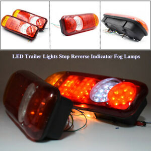 2pcs Led Trailer Lights Stop Reverse Indicator Fog Lamps Truck Boat Universal