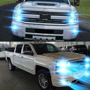 For Chevy Silverado 1500 2500 3500 2003 2006 6pc 8000k Led Headlight fog Bulbs