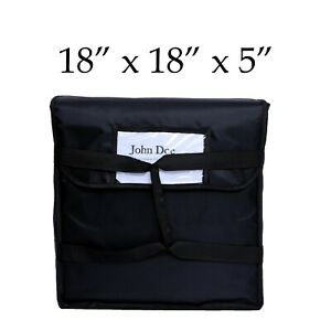 Black Nylon Insulated Food Delivery Bag 18 X 18 X 5 Can Carry 2 16 Pizza